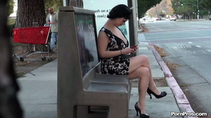 Was unluckily showered with semen in public sex way while being on the bus stop! - XXXonXXX - Pic 2