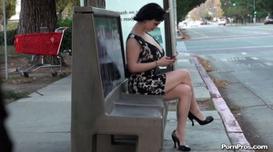 Was unluckily showered with semen in public sex way while being on the bus stop! - XXXonXXX - Pic 3