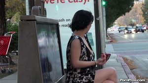 Was unluckily showered with semen in public sex way while being on the bus stop! - XXXonXXX - Pic 15