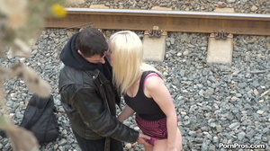 Sometimes if you want public sex, stop by the broken car of some blonde on the sideline - XXXonXXX - Pic 5