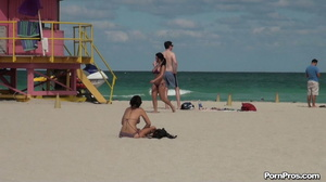 While on the beach, some public sex angel ripped her violet bra off her boobs - XXXonXXX - Pic 7
