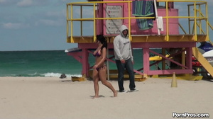 While on the beach, some public sex angel ripped her violet bra off her boobs - XXXonXXX - Pic 9