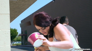 Running away from her muscled and smart public masturbation doer! - XXXonXXX - Pic 10