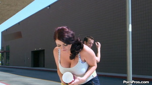 Running away from her muscled and smart public masturbation doer! - XXXonXXX - Pic 11