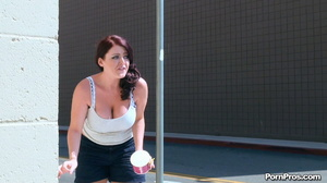 Running away from her muscled and smart public masturbation doer! - XXXonXXX - Pic 13