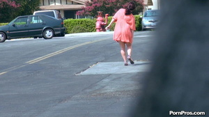 Making her naked in public right in the street in front of all her friends! - XXXonXXX - Pic 1
