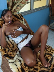 Black panther with Natural Hairy - Sexy Women in Lingerie - Picture 4