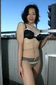 mature dark haired asian