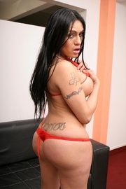 stunning dark haired transsexual