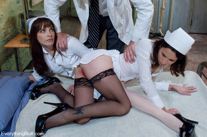 Slutty nurses humiliated by extreme anal - XXX Dessert - Picture 2