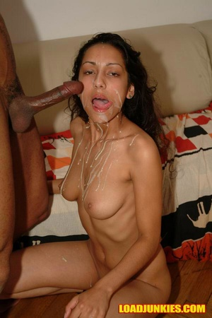 Insanely hot babe taking dick down her throat and a cum shower all over her body - XXXonXXX - Pic 11