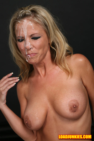 Amazing looking blonde receives the biggest cum shot in her face - XXXonXXX - Pic 5
