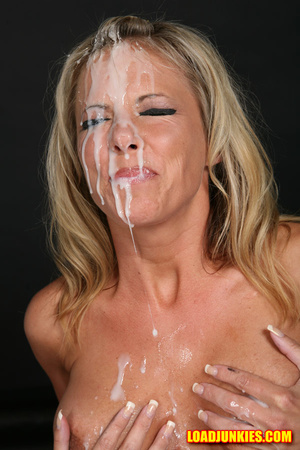 Amazing looking blonde receives the biggest cum shot in her face - XXXonXXX - Pic 6