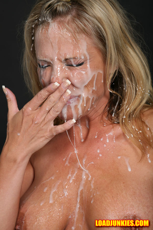 Amazing looking blonde receives the biggest cum shot in her face - XXXonXXX - Pic 7