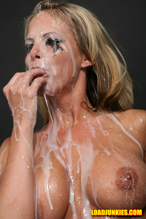 Amazing looking blonde receives the biggest cum shot in her face - XXXonXXX - Pic 8