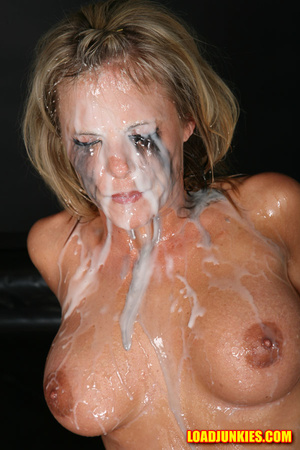 Amazing looking blonde receives the biggest cum shot in her face - XXXonXXX - Pic 9