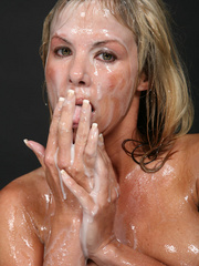 Amazing looking blonde receives the biggest cum - XXXonXXX - Pic 12