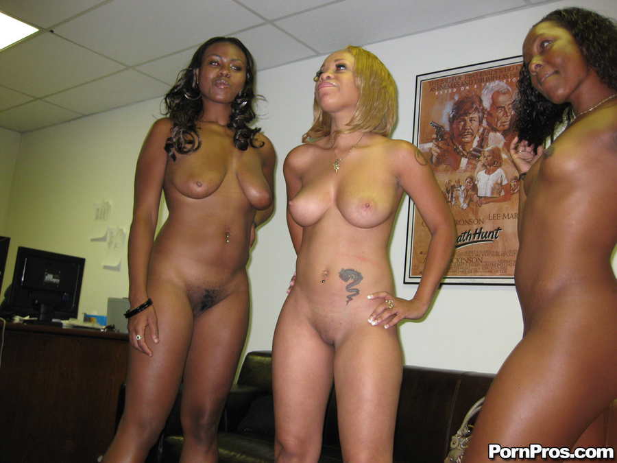 College ebony orgy