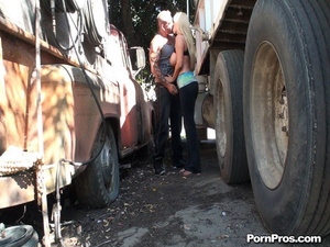 Gabbing a super sex-appeal sex in public MILF by the wheel of the unkempt truck - XXXonXXX - Pic 4