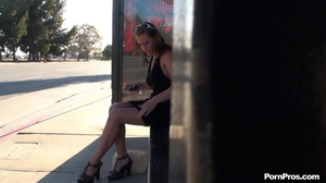 Some stranger ran up to her on the stop and cummed on her in the heaviest public fuck way - XXXonXXX - Pic 16