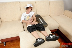 Oh, that skateboard Oriental gay one is doing his pepper feverishly - XXXonXXX - Pic 14