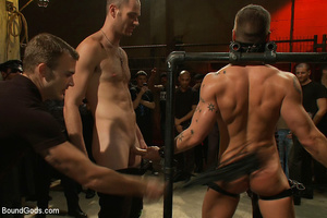 A throng of hungry free xxxgay men are destroying that damned one in the heaviest way! - XXXonXXX - Pic 3