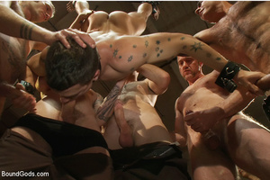 A throng of hungry free xxxgay men are destroying that damned one in the heaviest way! - XXXonXXX - Pic 6
