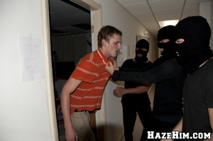 Massive bunch punch done by porno gay homophiles in black masks! - XXXonXXX - Pic 3