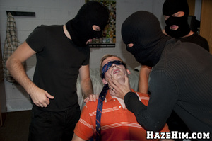 Massive bunch punch done by porno gay homophiles in black masks! - XXXonXXX - Pic 6