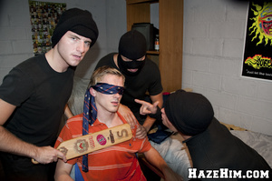 Massive bunch punch done by porno gay homophiles in black masks! - XXXonXXX - Pic 7