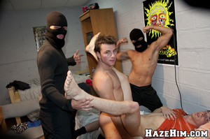Massive bunch punch done by porno gay homophiles in black masks! - XXXonXXX - Pic 14