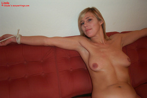 Married woman Linda taking off her blue  - XXX Dessert - Picture 12