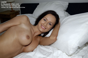 Naughty brunette babe Layla wants being  - XXX Dessert - Picture 3