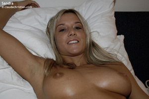 18 yo blonde Sandra in panties wet of pu - XXX Dessert - Picture 7