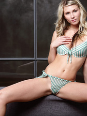 Blonde gal in striped lingerie pounding - XXX Dessert - Picture 4
