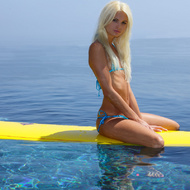 Perky tits erotic blonde teen in blue - XXX Dessert - Picture 14