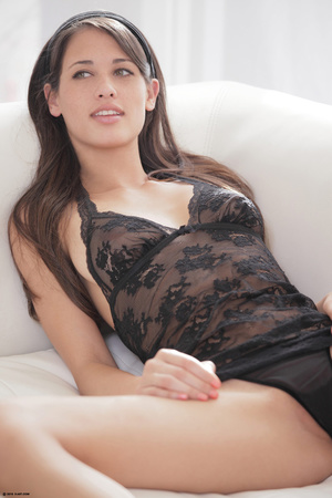 Fantastic brunette nymph in black peigno - XXX Dessert - Picture 14