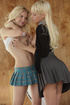 Two erotic college girls in tight uniform getting…