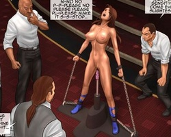 Enslaved toon chicks get their twats - BDSM Art Collection - Pic 1