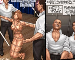 Enslaved toon chicks get their twats - BDSM Art Collection - Pic 6