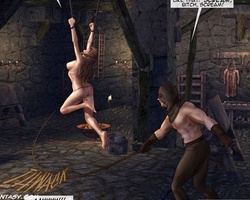 Tied up slave hotties begging for mercy - BDSM Art Collection - Pic 5