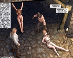 Tied up slave hotties begging for mercy - BDSM Art Collection - Pic 6