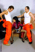 Brutal jailer and horny prisoners involved…