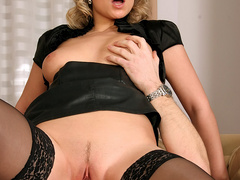 Big tits hottie in black stay ups called - XXX Dessert - Picture 6