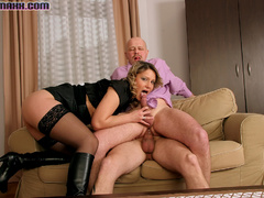 Big tits hottie in black stay ups called - XXX Dessert - Picture 12