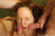 Practiced slut cock slapped huge cock item has