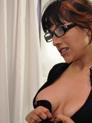 Cock hungry secreatry in glasses - Sexy Women in Lingerie - Picture 8