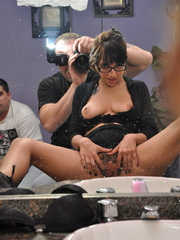 Cock hungry secreatry in glasses - Sexy Women in Lingerie - Picture 11