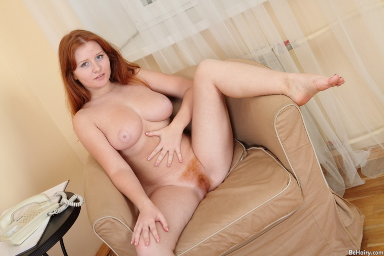 Hair nude pussy red