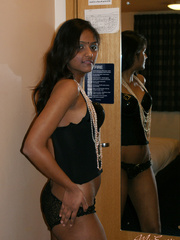 Black lingerie dressed indian girlfriend - XXX Dessert - Picture 7